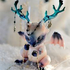 Fantasy | Whimsical | Strange | Mythical | Creative | Creatures | Dolls | Sculptures | ☥ | Ashes - limited Snow Edition by Aileen Doll