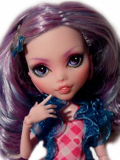 ☠ OOAK custom Monster High doll repaint Draculaura goth bjd ☠ REROOT ☠****** Custom-Dolls ******☠