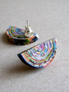 recycled paper earrings | BLURECO