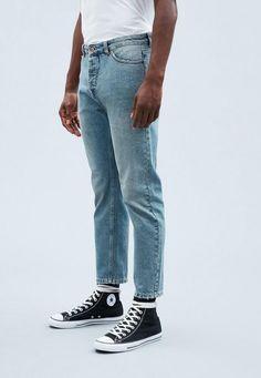 Blue Tapered Crop Dara Jeans |  Mennace