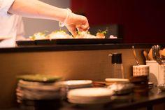 Preparing sushi at Stockholms best japanese restaurant