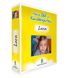"""Kindergarten Ordner Premium Layout 1 - """"Meine Zeit im Kindergarten"""" - Farbe Zitrone"""