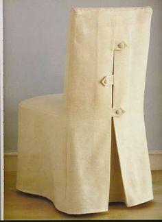 Como hacer fundas simples para sillas comedor decorar - Patron funda sofa ...