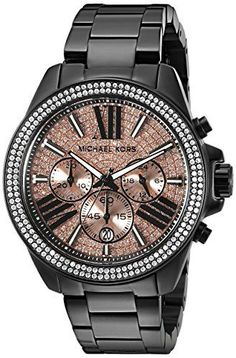 Michael Kors Women's MK5879 Wren Analog Display Analog Quartz Black Watch Michael Kors www.amazon.com/...