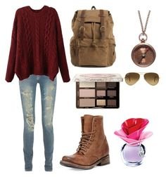 dgjrwg by annagoetzke on Polyvore featuring polyvore fashion style Yves Saint Laurent Freebird We Are All Smith Ray-Ban Too Faced Cosmetics Justin Bieber women's clothing women's fashion women female woman misses juniors