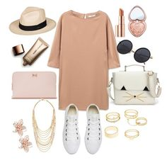 """""""Untitled #343"""" by dolrebeca ❤ liked on Polyvore featuring Estée Lauder, MANGO, Too Faced Cosmetics, Roxy, Ted Baker, Charlotte Russe, Converse, Ben-Amun, Nude by Nature and NAKAMOL"""