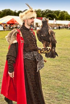 Falconer from Poland at the II Festival of Falconry in Berkshire
