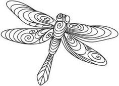 Quilled dragonfly pattern. Image Only. jwt