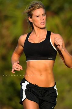 I hate running... but for abs like that I could learn to love it!