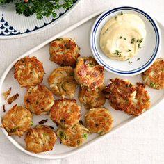 Mini Crab Cakes with Dijon Thyme Aioli - FamilyCircle.com