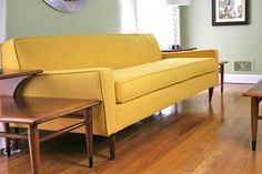 yellow vintage sofa #vintage #recycle #gogreen **Follow all our boards at www.pinterest.com/gogreenwh
