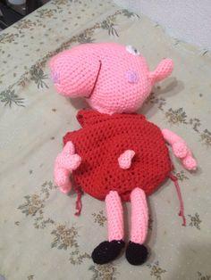 Peppa pig hecha con Lana y trapillos