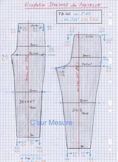 construction pantalon de base - Recherche Google