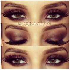 Bronz Smoky Eye Makeup Idea with Tutorial   AmazingMakeups.com