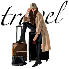 Packing ✈️ #fashionillustration #art #mood