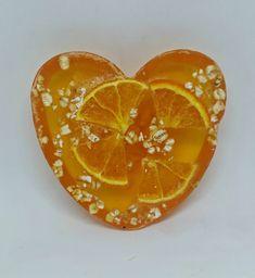 Orange Blossom, heart shaped, scented soap bar by Heaven Senses by HeavenSenses on Etsy