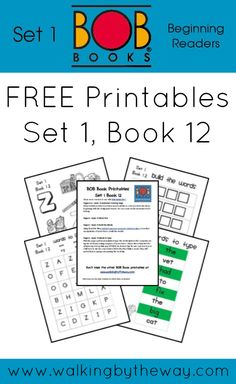 FREE BOB Book Printables for Set 1 Book 12 from Walking by the Way