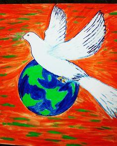 #oil #painting #peace #love #world $10,000 order via DM