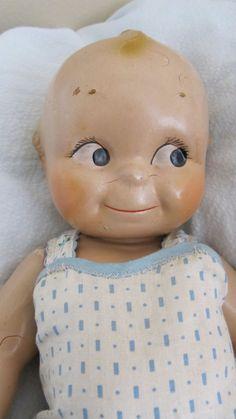 Vintage Large Composition Kewpie Doll