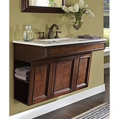 Ada Compliant Vanity Home Design Ideas Pictures Remodel And Decor Regarding Ada Bathroom Vanity Plan--finally no exposed pipes--beautiful! 72 Bathroom Vanity, Ada Bathroom, Handicap Bathroom, Vanity Sink, Bathroom Furniture, Modern Bathroom, Bathroom Cabinets, Bathroom Ideas, Brown Bathroom
