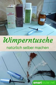 Make your own natural mascara from only 4 Natürliche Wimperntusche aus nur 4 Zutaten selbst herstellen You don& like mascara or are you looking for a natural alternative? With just four ingredients, you can make your own mascara with this recipe! Beauty Care, Beauty Hacks, Beauty Ideas, Make Your Own Makeup, Make Up, Diy Beauté, Natural Mascara, Leave In, Beauty Recipe