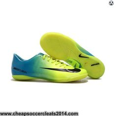 cheap for discount 14a4b 56fb5 Wholesale Cheap Blue Green White Nike Mercurial Vapor IX IC Football Shoes  For SaleFootball Boots For Sale