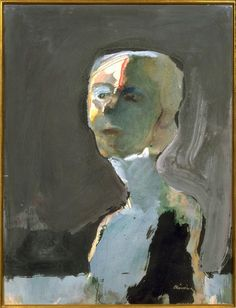 Nathan Oliveira, Portrait of a Woman, 1963, Transparent and opaque watercolor on Rives BFK paper, 66 x 50.8 cm, Fine Arts Museums of San Francisco