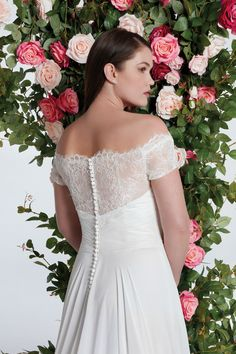 Style 11059: Off the Shoulder Lace Bodice A-line Chiffon Gown | Sweetheart Gowns Anne Barge Wedding Dresses, Wedding Dress Trends, Sweetheart Wedding Dress, One Shoulder Wedding Dress, Wedding Topper, A Line Gown, Chiffon Skirt, Lace Bodice, Off The Shoulder