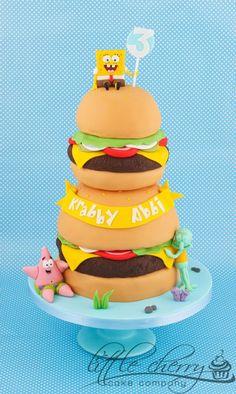 Spongebob Hamburger cake