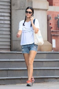 Katie Lee Photos Photos - Cooking show host Katie Lee is seen out and about in New York City, New York on May - Katie Lee Is Seen Out and About in New York Katie Lee Joel, Cooking Show Hosts, Wine And Food Festival, Food Network Star, New York City, Denim, Jackets, Beautiful, Stars