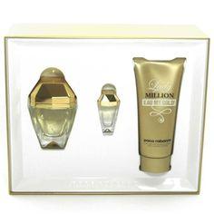 Estuche promocional del #perfume para mujer Lady Million Eau My Gold de #PacoRabanne   