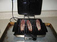 bacon on a waffle iron