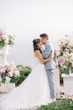 Colleen Ballinger and Josh Evans. I loved everything about their wedding! From location to the taco bell truck! The color scheme was perfect and I loved their vows!