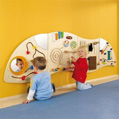 """The HABA 3 Piece Panel Learning Wall Toy is perfectly sized for busy toddlers. Packed with sensory experiences that promote the development of fine motor skills"" Interactive Walls, Interactive Learning, Toddler Play Area, Wall Game, Sensory Wall, Sensory Boards, Activity Board, Church Nursery, Waiting Rooms"