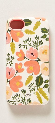 Painted poppies iPhone 5 case by Rifle Paper Co