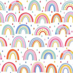 Over The Rainbow Wallpaper & Dunelm Rainbow Wallpaper, Kids Wallpaper, Pattern Wallpaper, Wallpaper For Girls Room, Print Wallpaper, Wallpaper Wallpapers, Rainbow Theme, Rainbow Print, Kid Decor