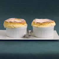 Lemon souffles are great to share with your guy on date night...if you're feeling generous.
