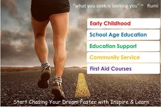 First Aid Course, Inspired Learning, Career Options, Chase Your Dreams, Education And Training, Community Service, Dreaming Of You, Passion, School