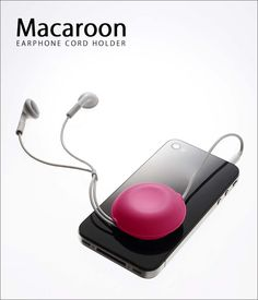 Macaroon Earphones Holder. Love it ^-^