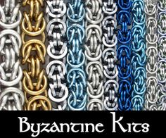 TheRingLord.com Chainmail Jump Rings jumprings Scalemail Jewelry Supplies and Wire - Chainmail Project Byzantine Kits