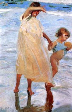 Joaquin Sorolla y Bastida Poster Print Wall Art Print entitled Two Sisters, Valencia, 1909 Art And Illustration, Famous Art Paintings, Crow Painting, Toledo Museum Of Art, Spanish Art, Spanish Painters, Oil Painting Reproductions, Art Institute Of Chicago, Renoir