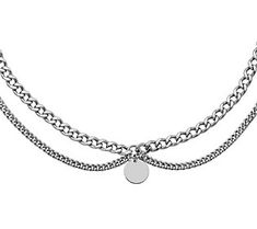 Best little black dress. This sterling silver choker necklace. A classic combination that'll have you dressed and ready to go in a flash. From the Italian Jewelry Collection. Sterling Silver Choker Necklace, O Ring Choker, Cute Necklace, Circle Necklace, Layered Chain Necklace, Italian Jewelry, Jewelry Branding, Jewelry Collection, Women Jewelry