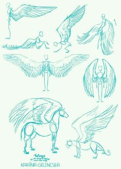 Manga Drawing Tips Wings; How to Draw Manga/Anime Drawing Techniques, Drawing Tips, Drawing Sketches, Cool Drawings, Sketching, Drawing Ideas, Art Reference Poses, Drawing Reference, Design Reference