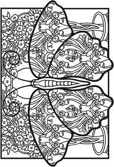 341 Best Coloring Book Butterfly Papillon Borboleta