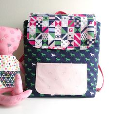 A free sewing tutorial for a toddler backpack pattern, a cute backpack sewing pattern that is miniature sized and perfect for kids and toddlers. Mini backpack sewing patterns, tutorials, and ideas.