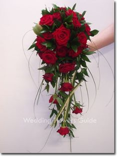 how to make a cascading wedding bouquet with fake flowers