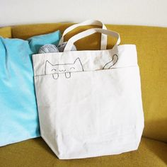 This embroidered cat tote bag is super quick to make and adds a little extra cat-lady to your errands!