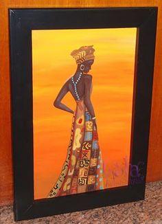 Lola Artesanías: 1/10/10 - 1/11/10 African Girl, African Beauty, African Women, Girl Background, Modern Art, All Modern, African Fabric, Acrylic Art, Mandala