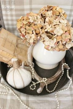 Dry Summer's Hydrangeas for Fabulous Fall Decoration