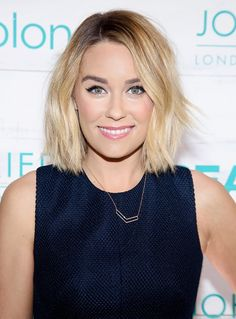 """""""For the record, I love round faces,"""" Bradbury clarifies. """"But a long bob, below the jaw, is the absolute best hairstyle if you want to make your face look thinner."""" Colton agrees, saying, """"A lob is an ideal cut because it frames your face....3 Haircuts That Make Your Face Look Thinner via @byrdiebeauty"""